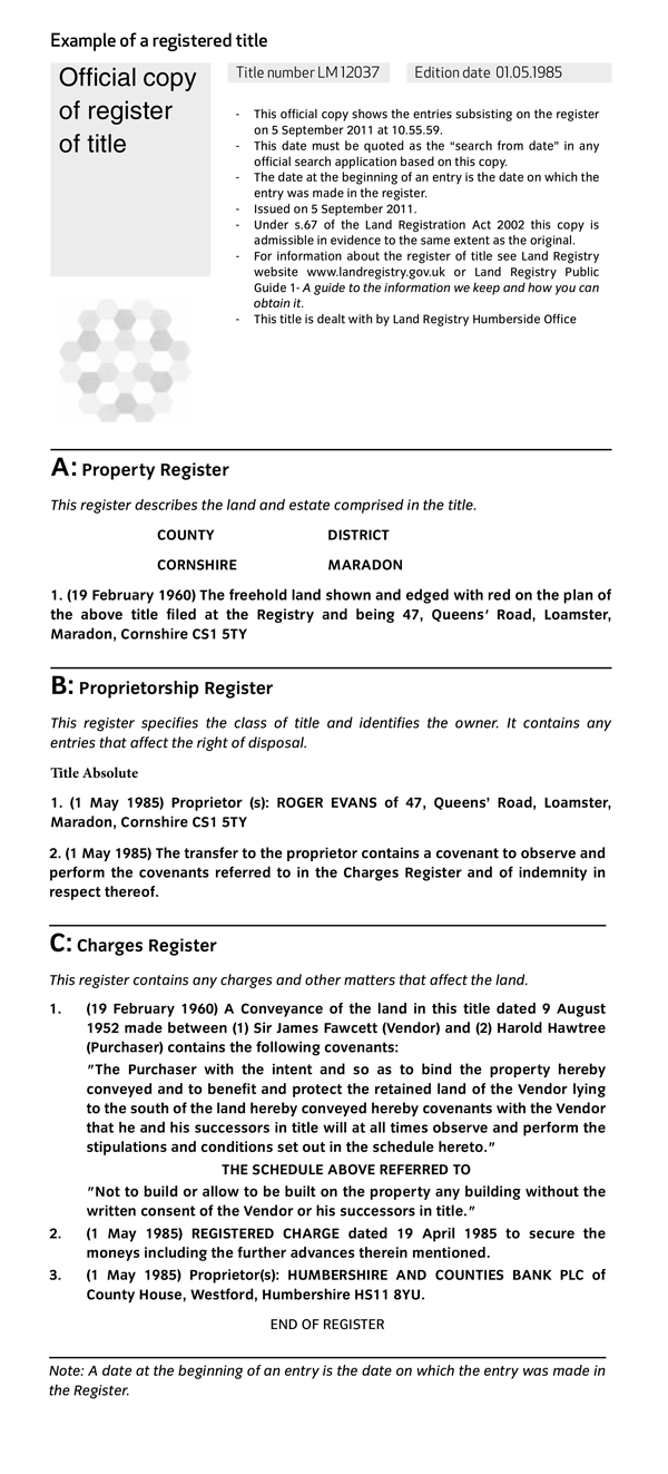Land Registry Property Search Login